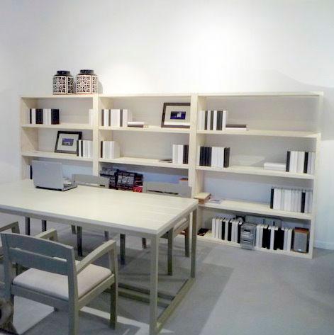 Librería Moskú simple R, blanco rozado