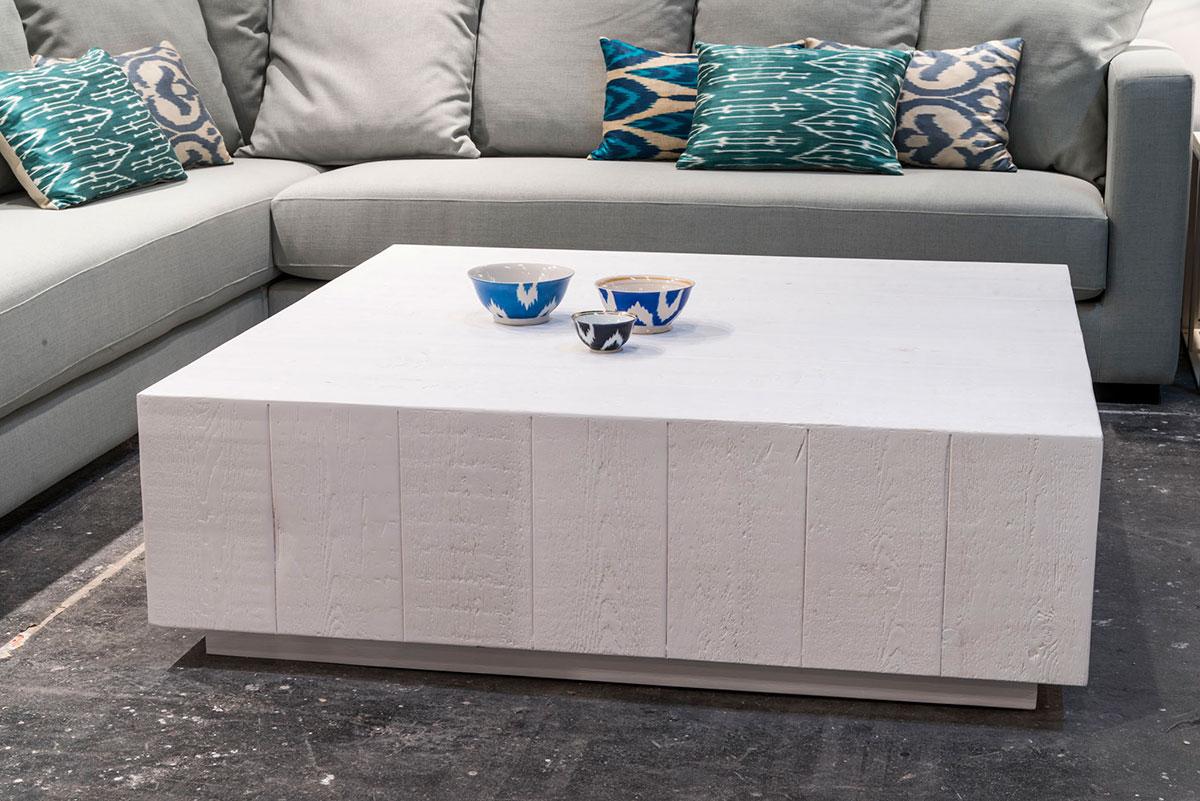 Mesa Cubo R, blanco cubierto