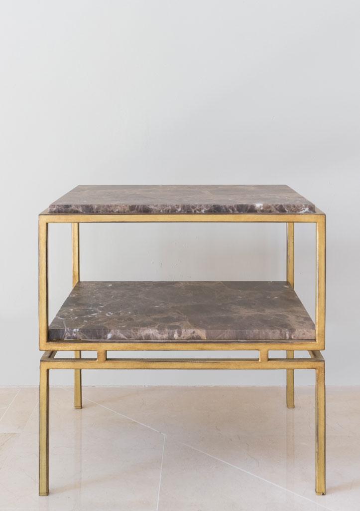 Mesita Lima, hierro y mármol